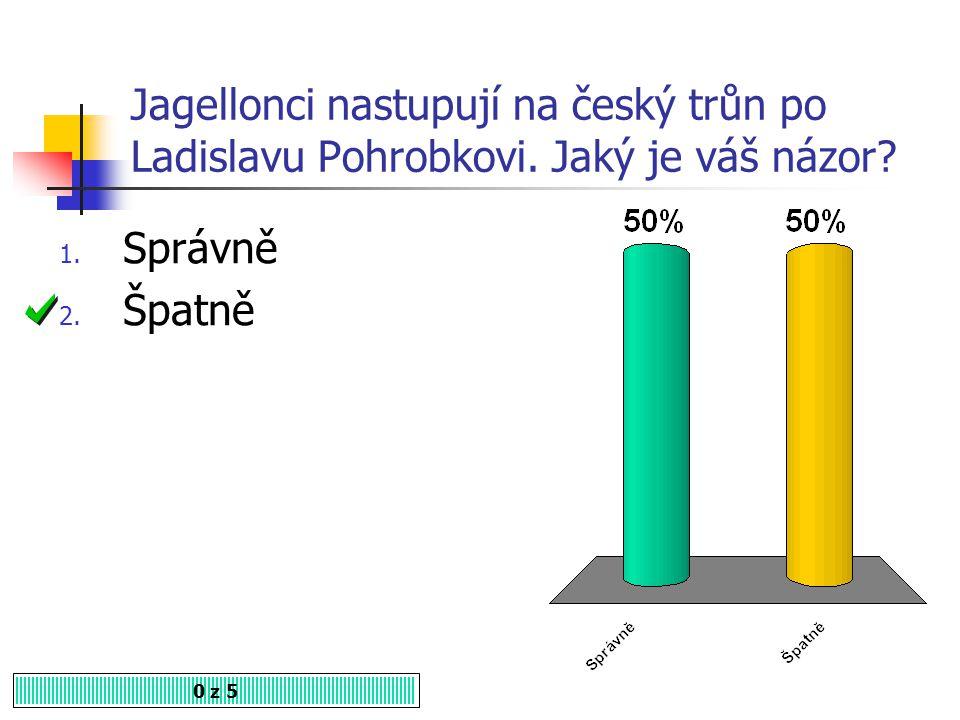 Jagellonci nastupují na český trůn po Ladislavu Pohrobkovi