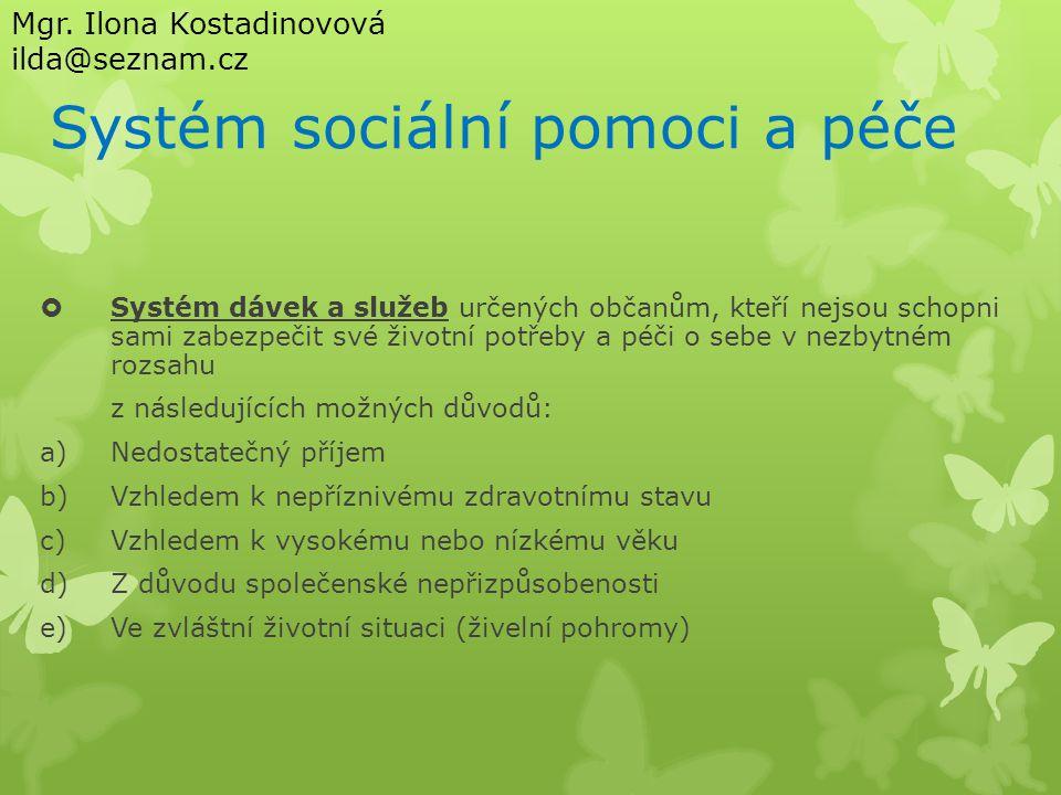 Systém sociální pomoci a péče