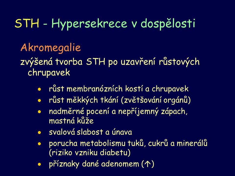 STH - Hypersekrece v dospělosti