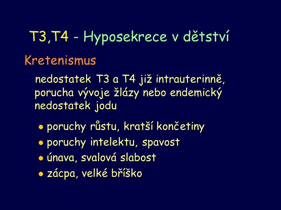 T3,T4 - Hyposekrece v dětství
