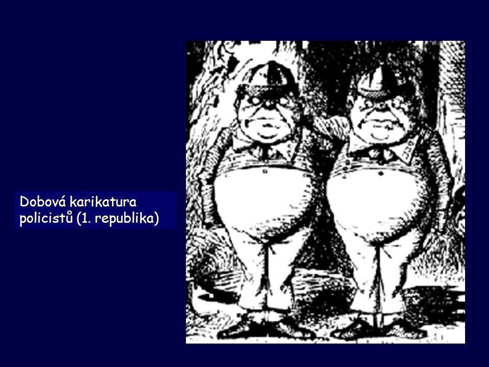 Dobová karikatura policistů (1. republika)