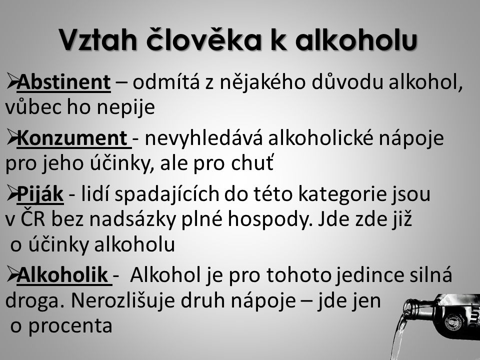 Vztah člověka k alkoholu