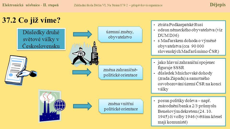 37.2 Co již víme Důsledky druhé světové války v Československu