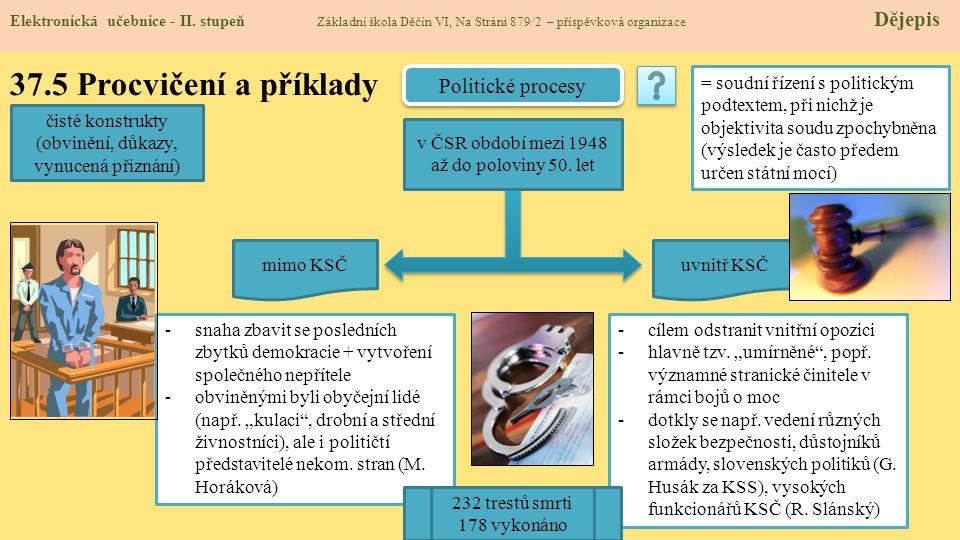 37.5 Procvičení a příklady Politické procesy
