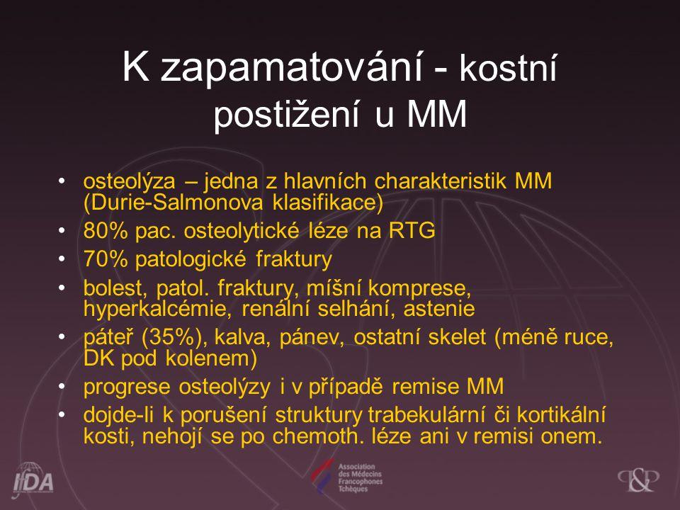 K zapamatování - kostní postižení u MM