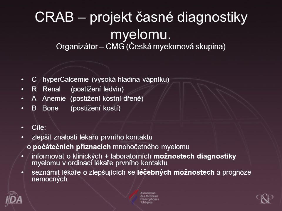 CRAB – projekt časné diagnostiky myelomu
