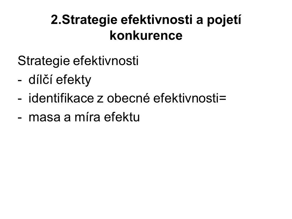2.Strategie efektivnosti a pojetí konkurence