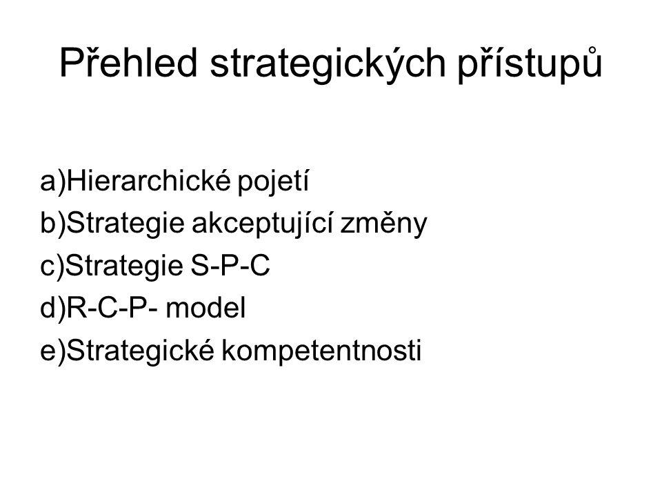 Přehled strategických přístupů