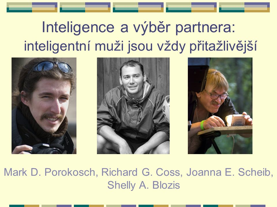 Inteligence a výběr partnera:
