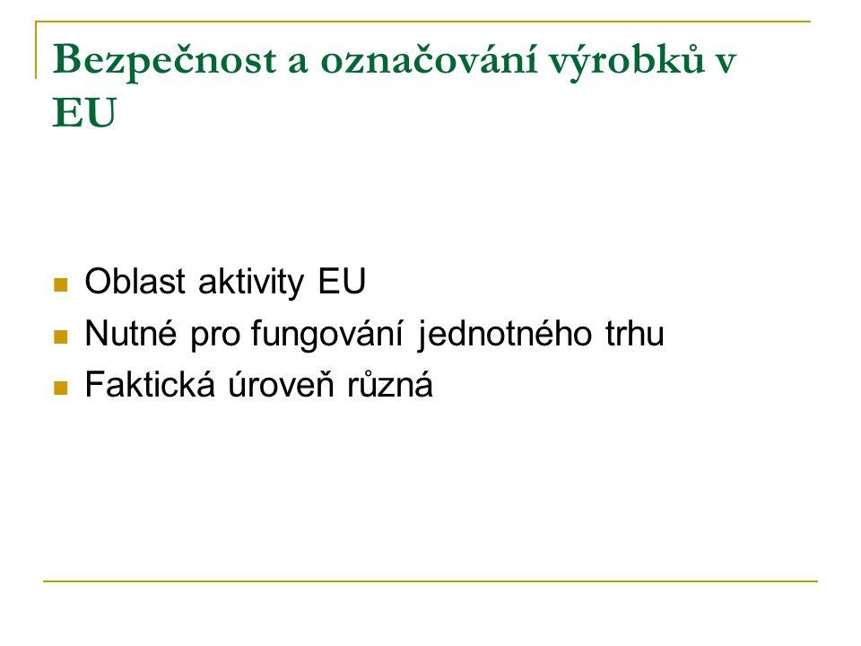 Bezpečnost a označování výrobků v EU