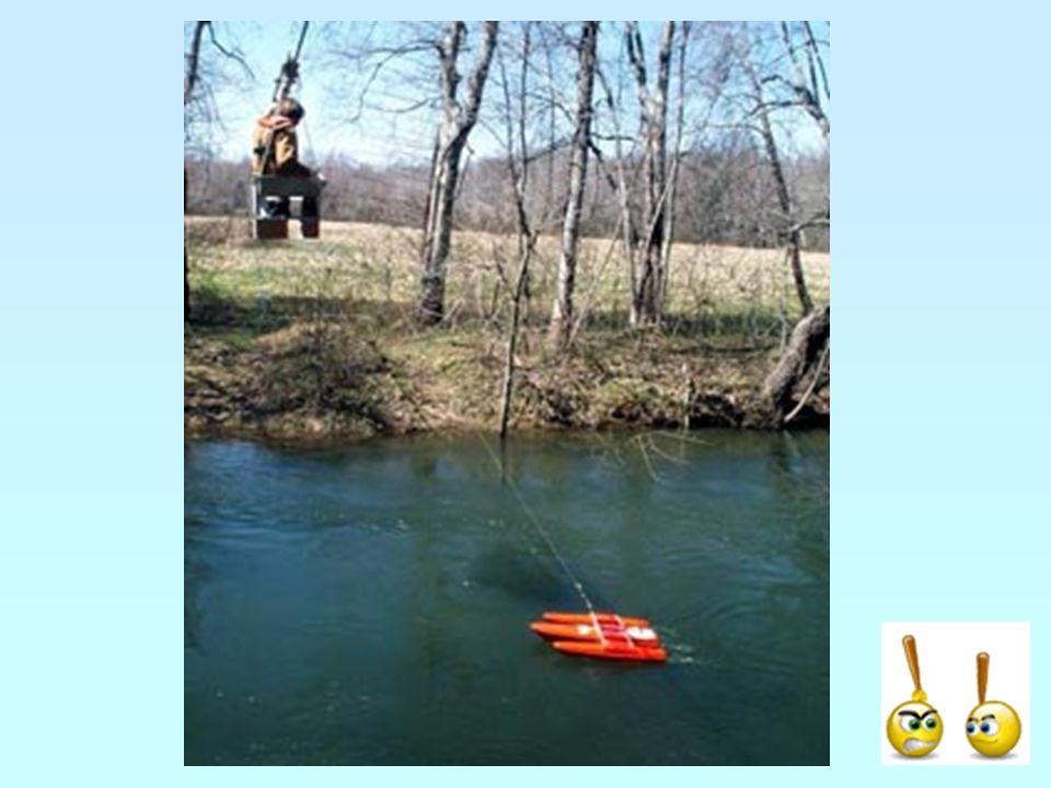 Jak dostat vrtuli do řeky