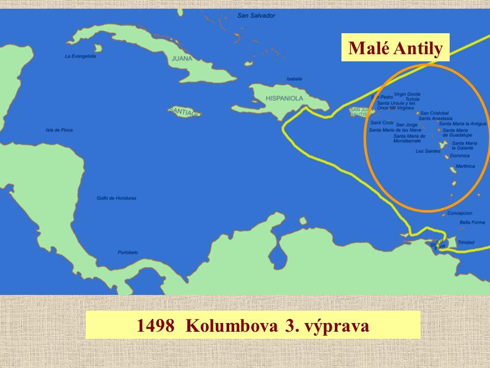 Malé Antily 1498 Kolumbova 3. výprava