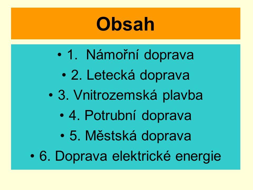 6. Doprava elektrické energie