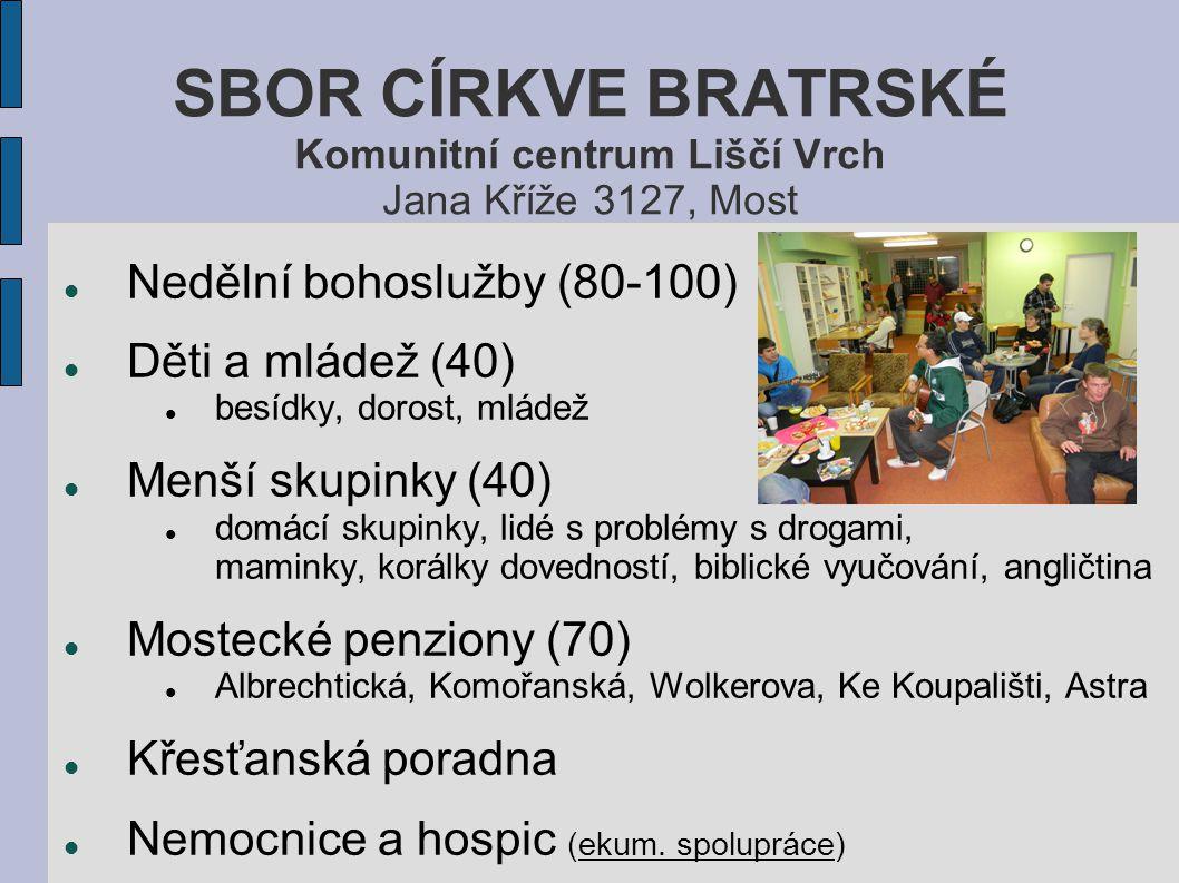 SBOR CÍRKVE BRATRSKÉ Komunitní centrum Liščí Vrch Jana Kříže 3127, Most