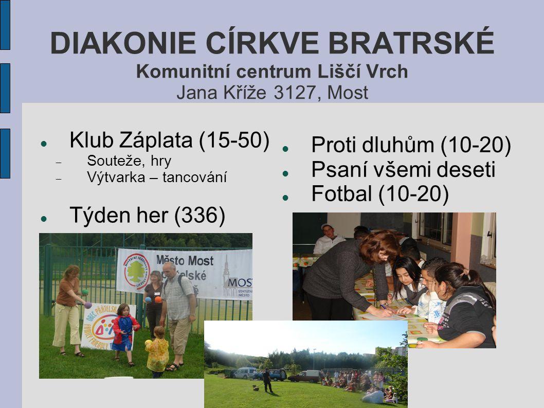 DIAKONIE CÍRKVE BRATRSKÉ Komunitní centrum Liščí Vrch Jana Kříže 3127, Most