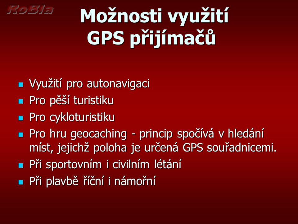 Možnosti využití GPS přijímačů