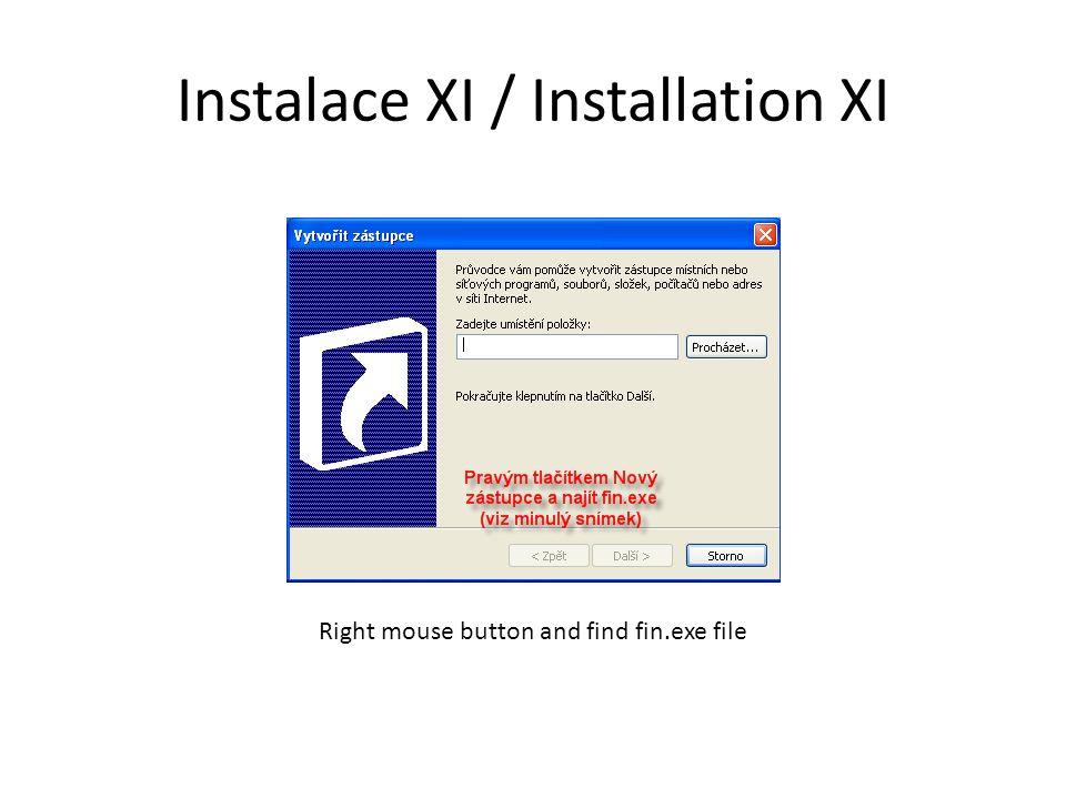 Instalace XI / Installation XI