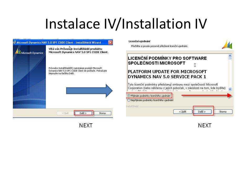 Instalace IV/Installation IV