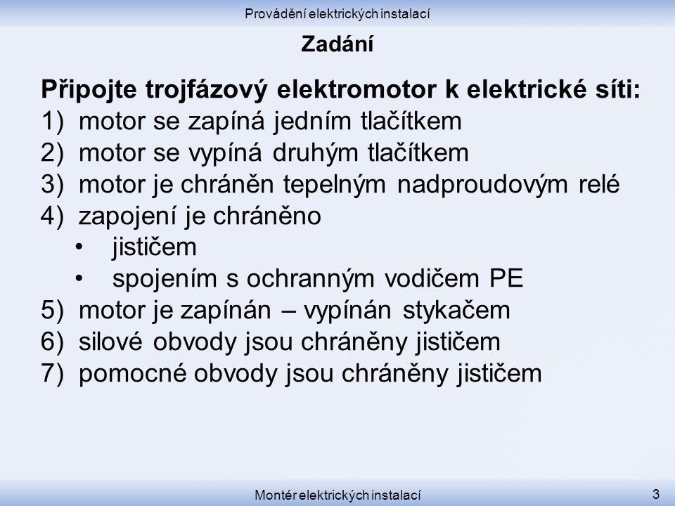Připojte trojfázový elektromotor k elektrické síti: