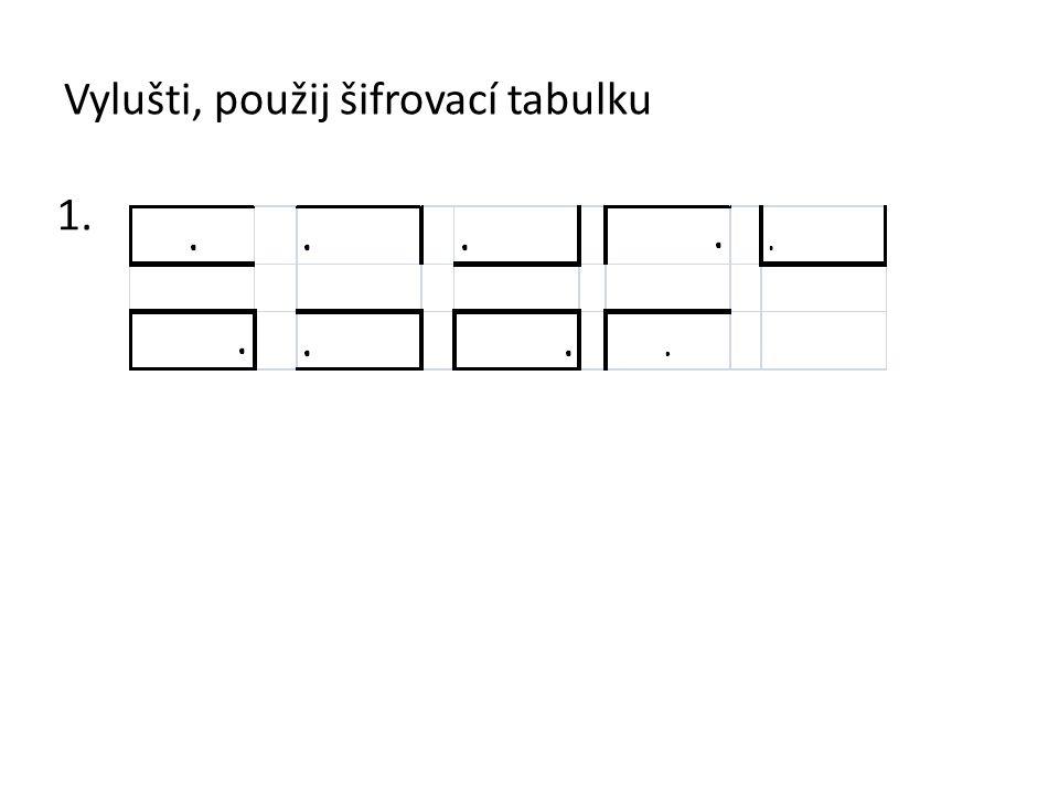 Vylušti, použij šifrovací tabulku
