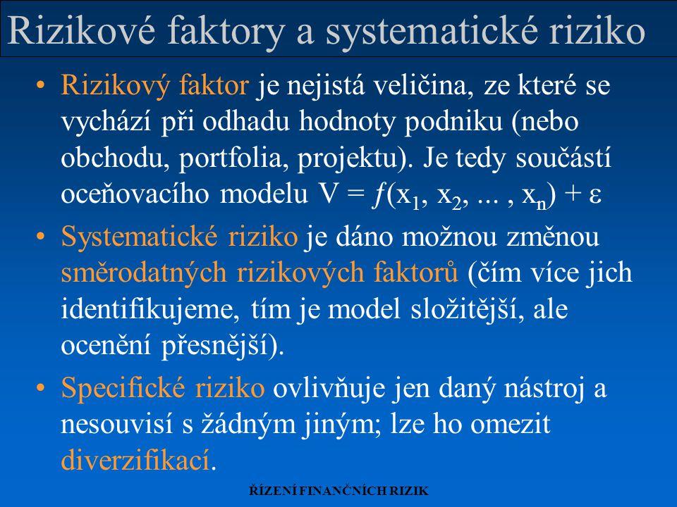 Rizikové faktory a systematické riziko