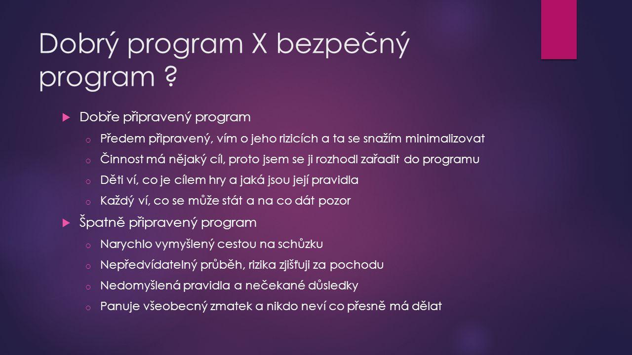 Dobrý program X bezpečný program