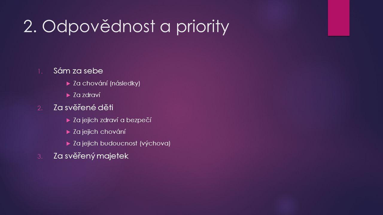 2. Odpovědnost a priority