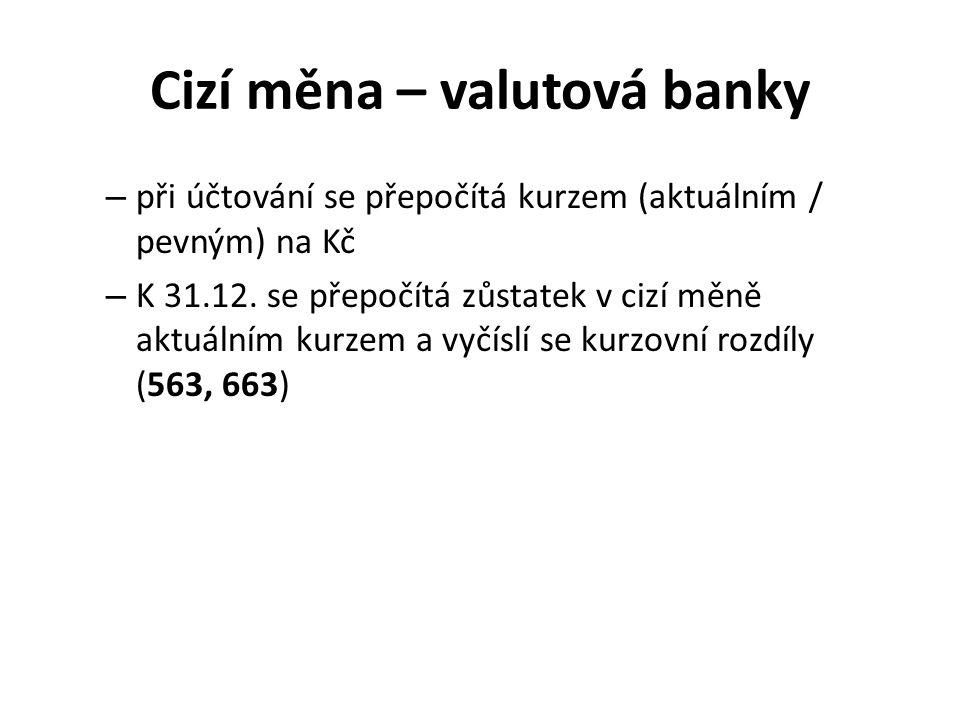 Cizí měna – valutová banky