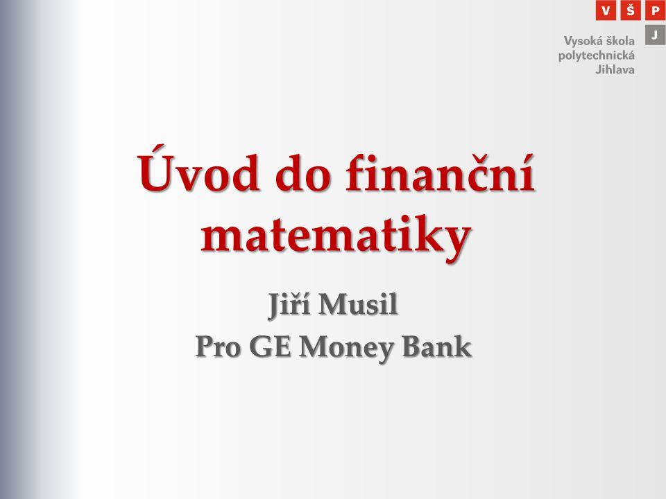 Úvod do finanční matematiky