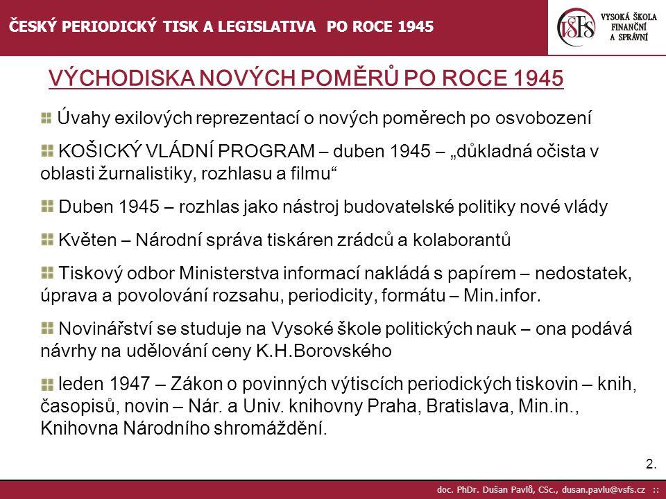 Duben 1945 – rozhlas jako nástroj budovatelské politiky nové vlády