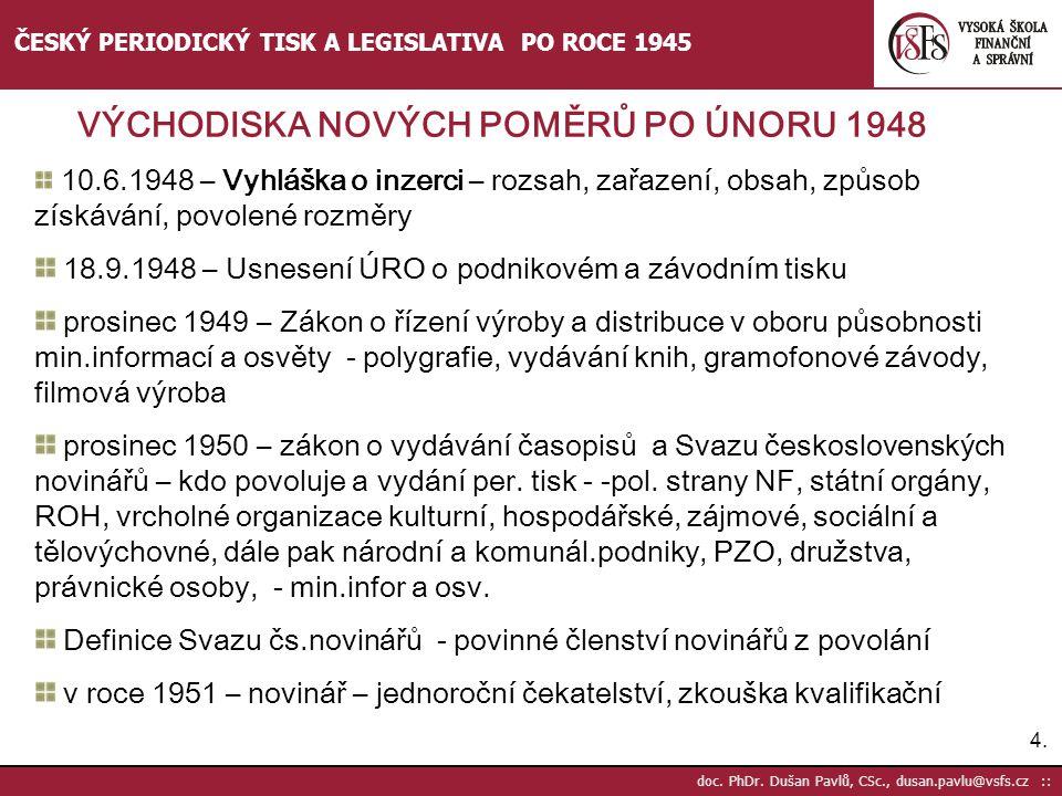 18.9.1948 – Usnesení ÚRO o podnikovém a závodním tisku