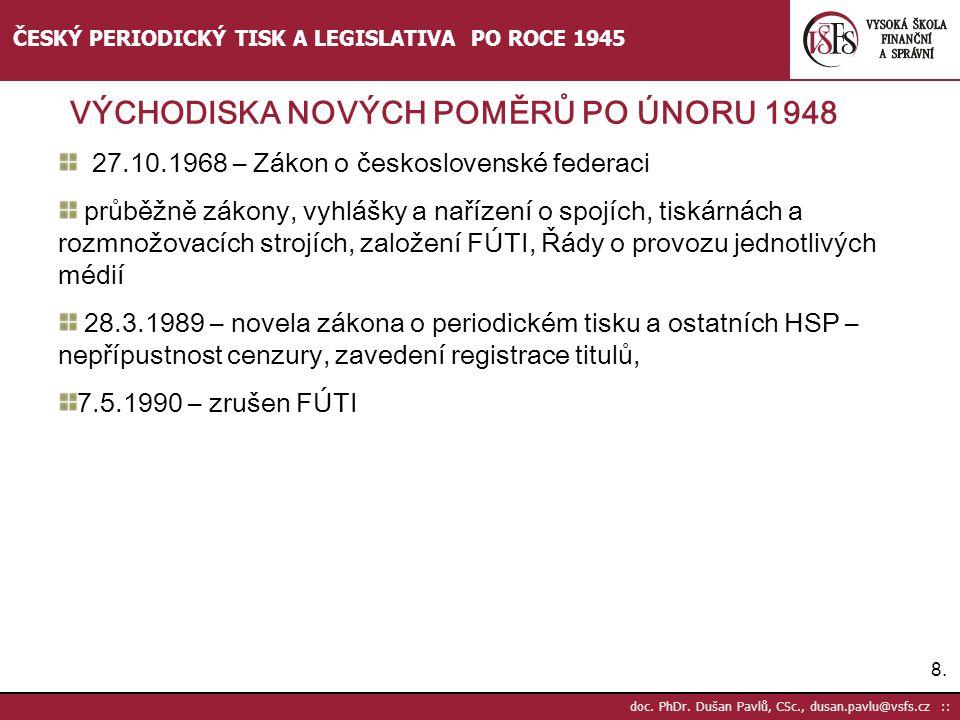 27.10.1968 – Zákon o československé federaci