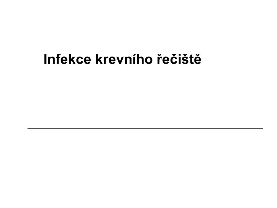 Infekce krevního řečiště