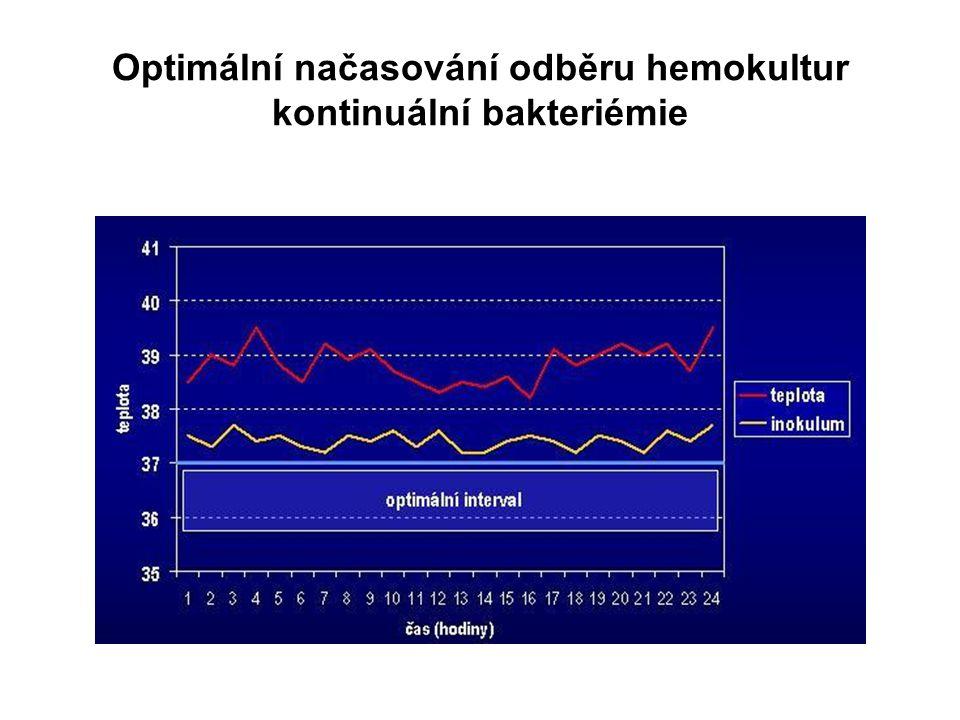 Optimální načasování odběru hemokultur kontinuální bakteriémie