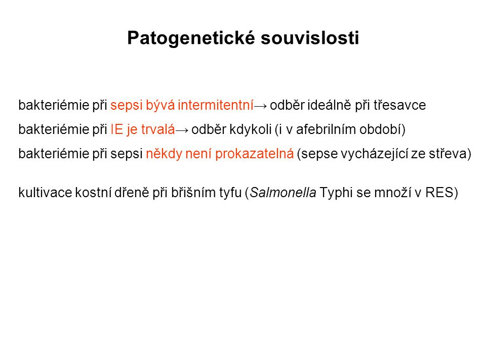 Patogenetické souvislosti