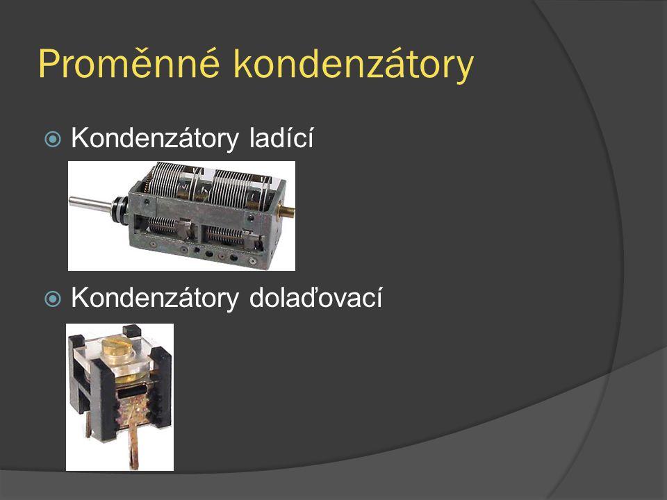 Proměnné kondenzátory