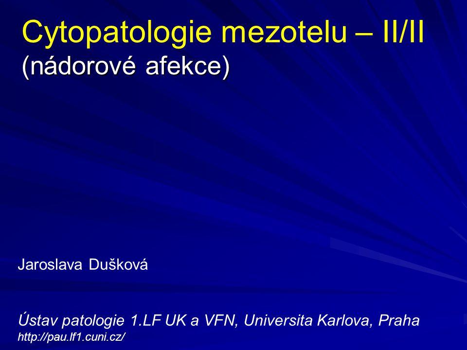 Cytopatologie mezotelu – II/II