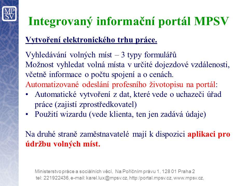 Integrovaný informační portál MPSV