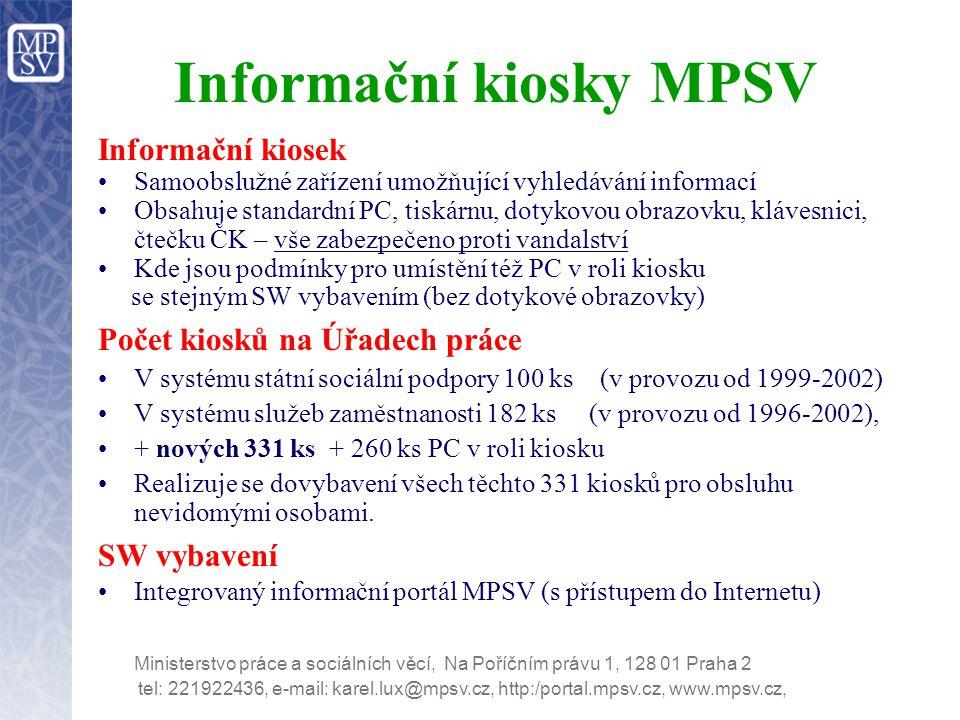 Informační kiosky MPSV