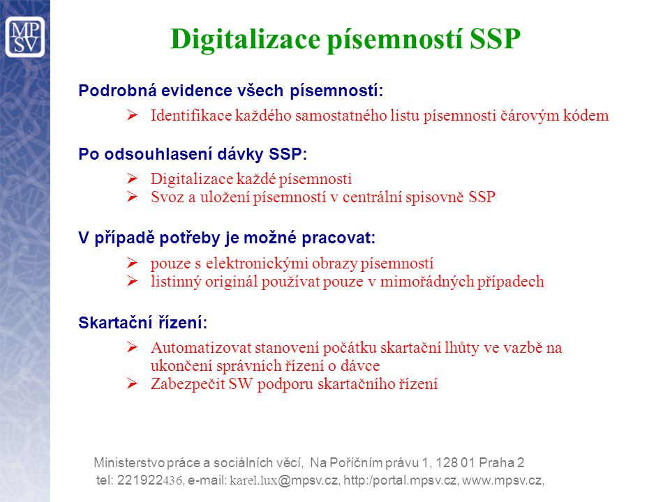 Digitalizace písemností SSP