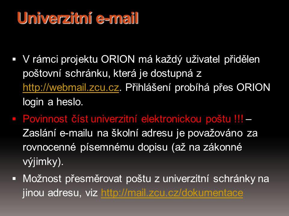 Univerzitní e-mail