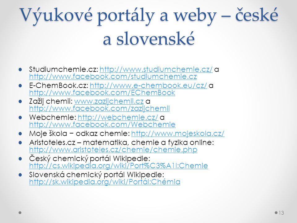 Výukové portály a weby – české a slovenské