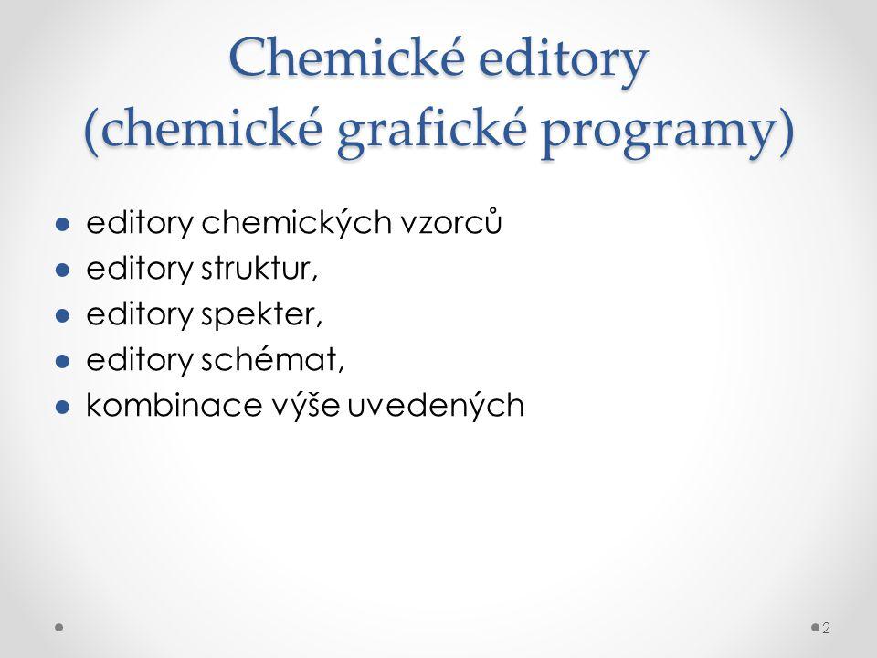 Chemické editory (chemické grafické programy)
