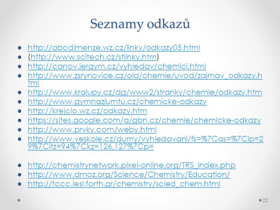 Seznamy odkazů http://abcdimenze.wz.cz/linky/odkazy05.html