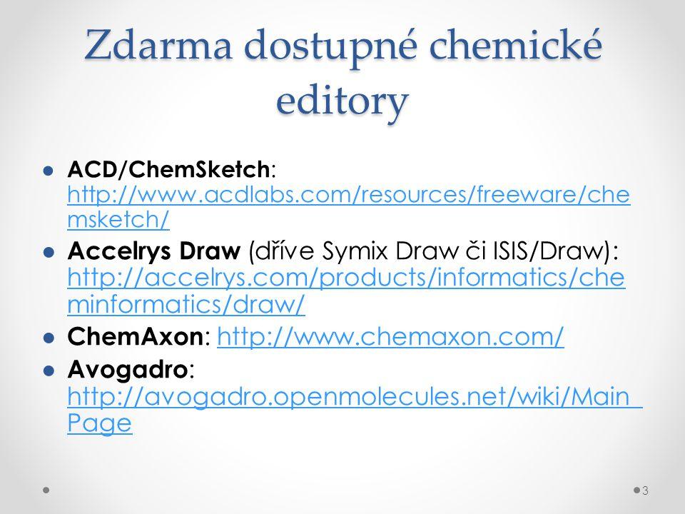 Zdarma dostupné chemické editory