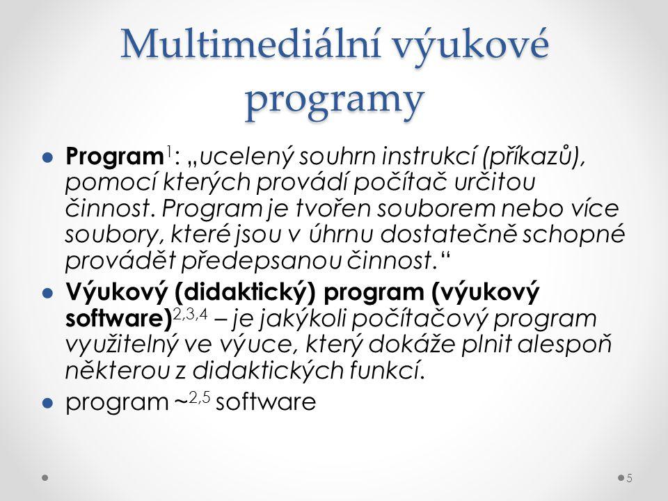 Multimediální výukové programy