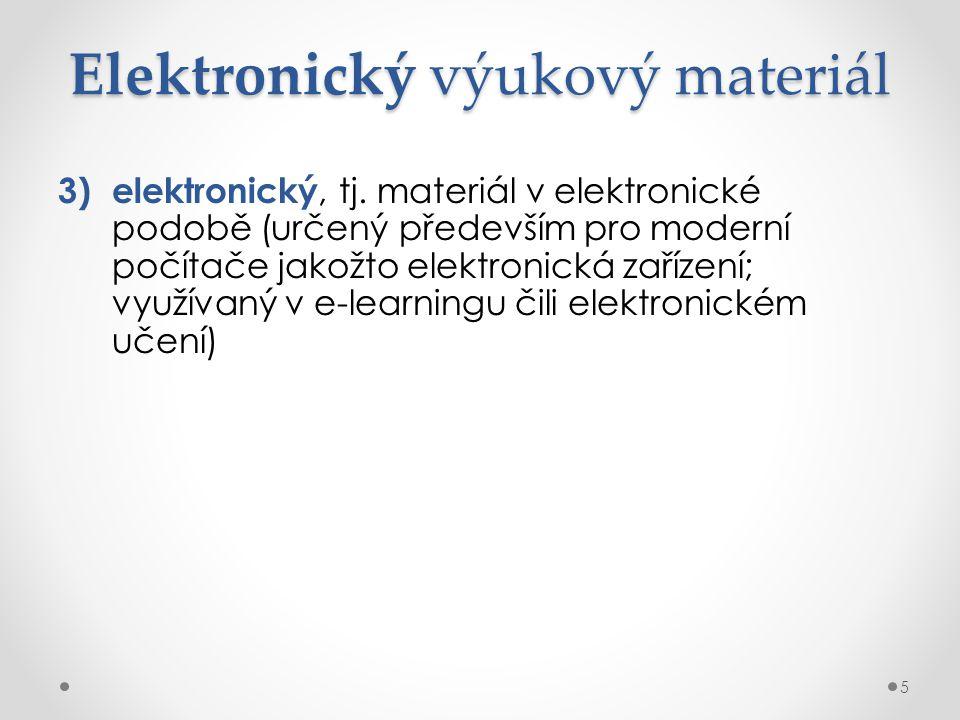 Elektronický výukový materiál