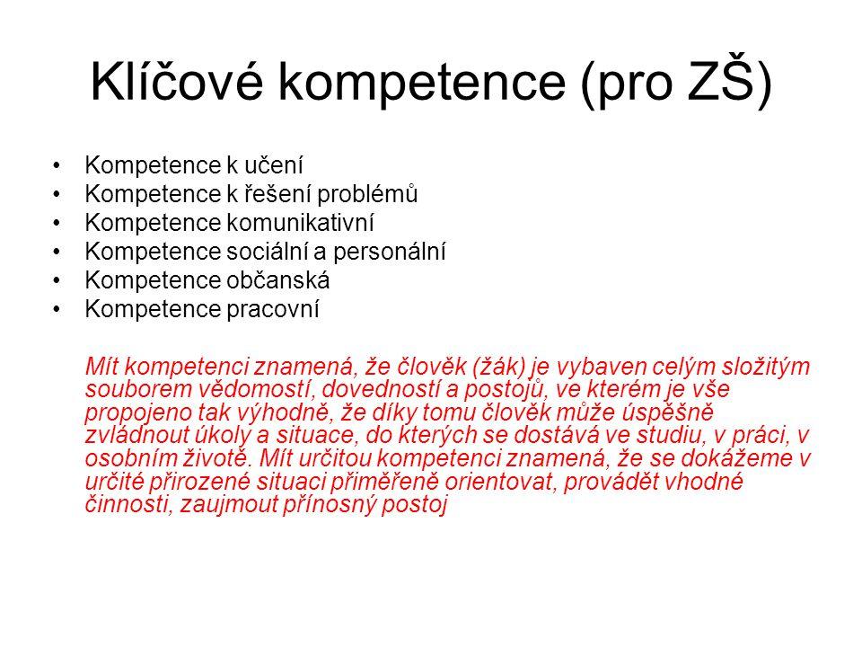 Klíčové kompetence (pro ZŠ)