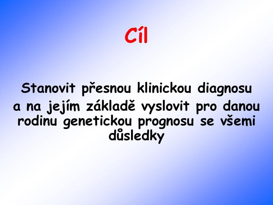 Stanovit přesnou klinickou diagnosu