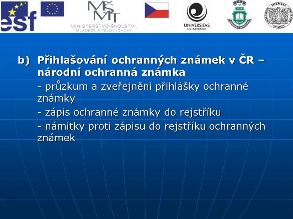Přihlašování ochranných známek v ČR – národní ochranná známka